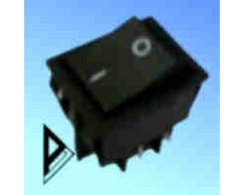 double- pole- appliance-  rocker- switch-black